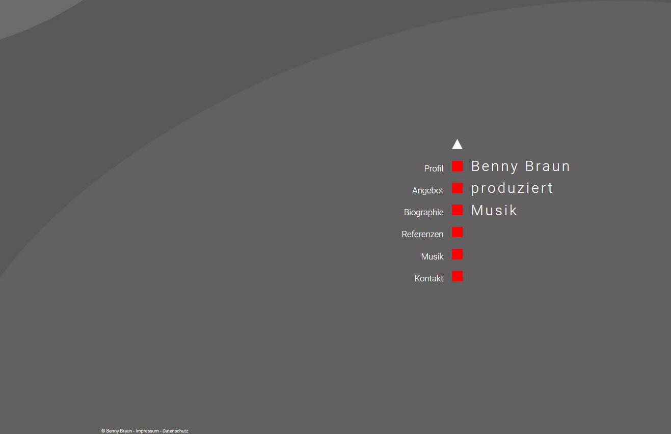 Projekt: Benny Braun Musikproduktion (2016)