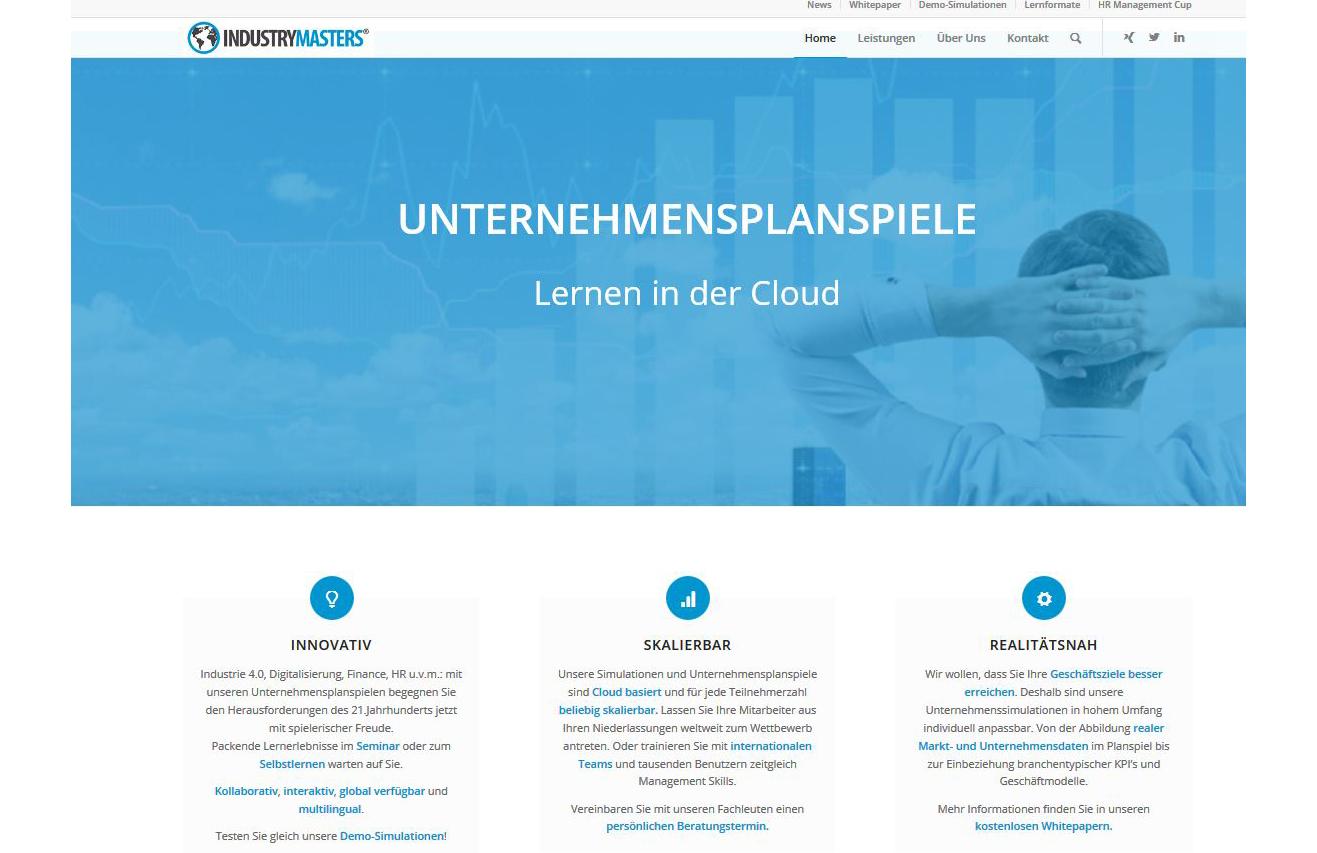 Projekt: Industrymasters Unternehmensimulationen (2017- 2018)