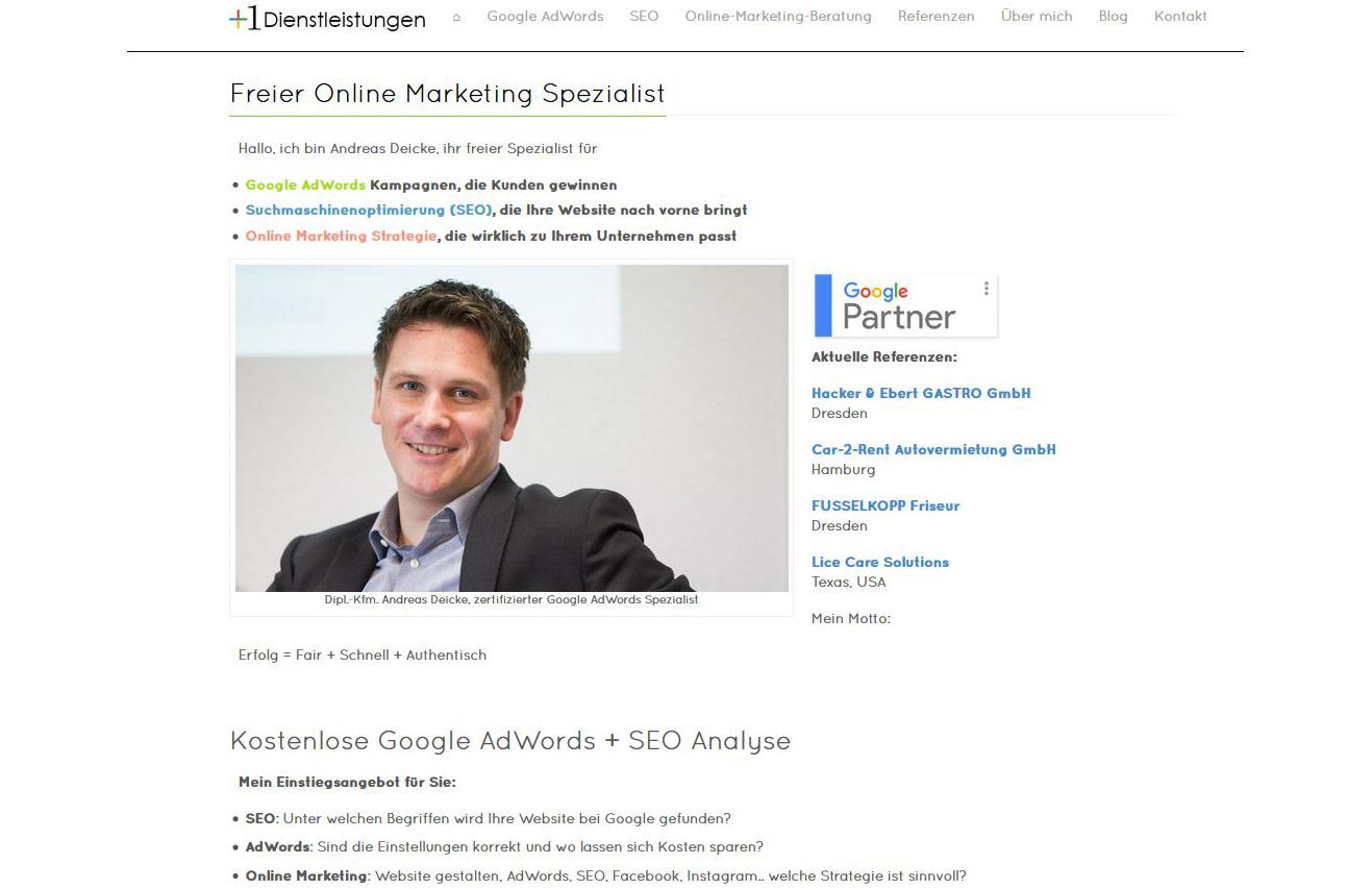 Kooperationspartner: Plus1 Dienstleistungen SEO und Marketing Beratung (seit 2015)