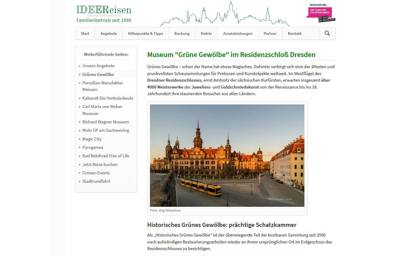 Projekt: Idee Reisen, dresdenerleben.de (seit 2015)