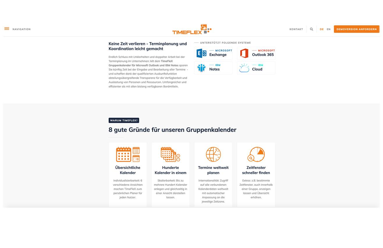 Kunde: Timeflex / Branche: IT / Software / Entwicklung und Vertrieb
